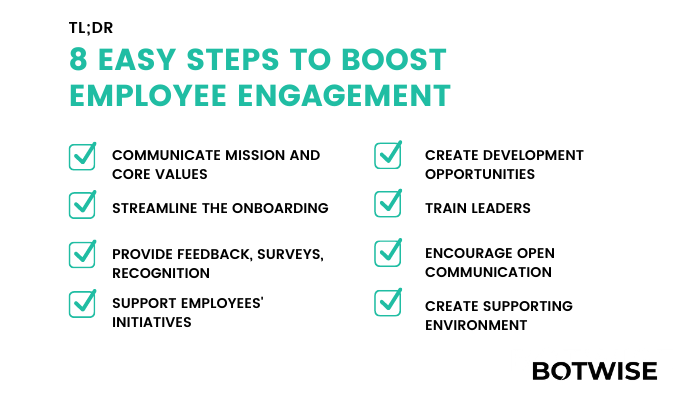 8 easy steps to employee engagement