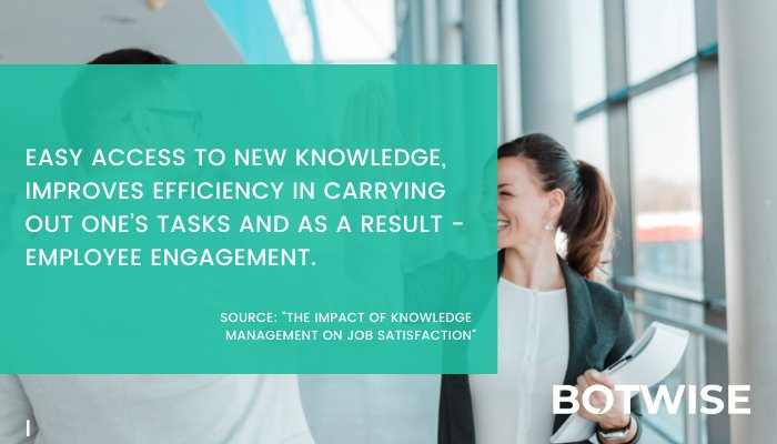 Easy access to knowledge results in better enagagement